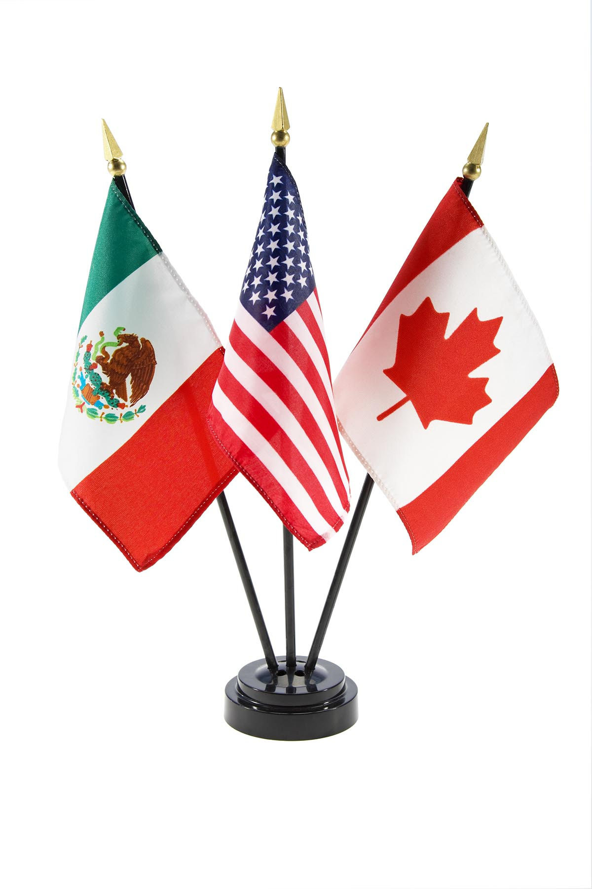 Photo of Canadian, American, and Mexican flags.